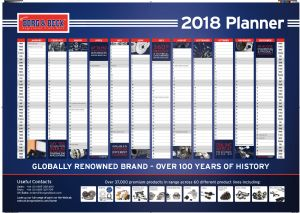 2018 Wall Planners Now Available